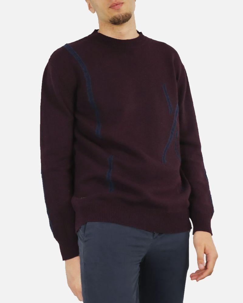 Pull violet en laine John Galliano
