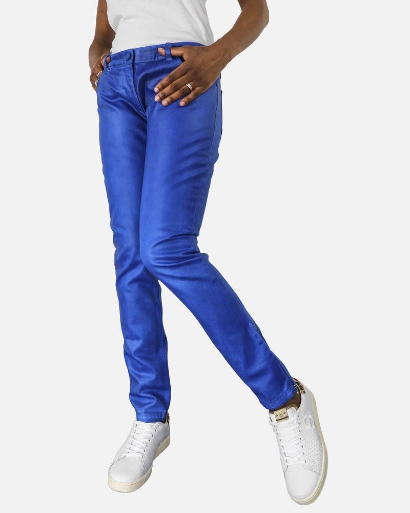 Jean bleu électrique effet huilé Balenciaga