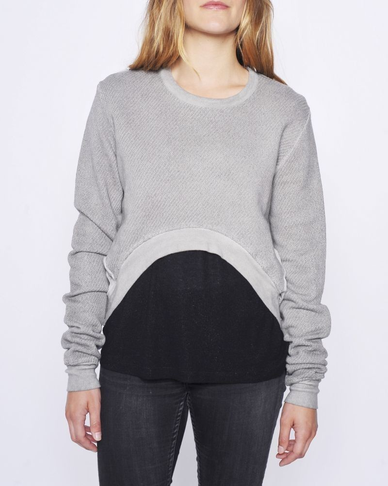 Crop sweat gris Silent