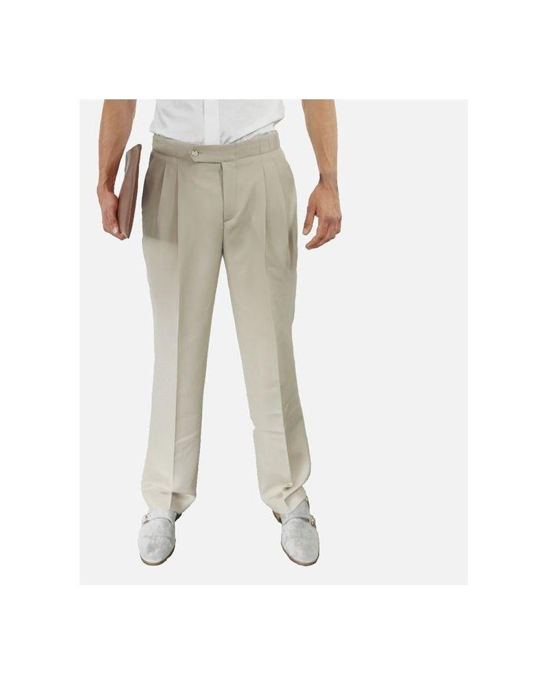 Pantalon de smoking beige Edition M.R