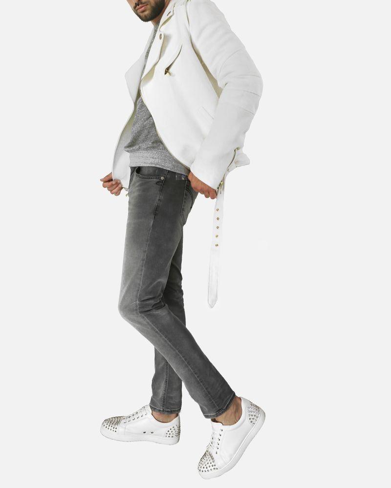 Jean en coton gris délavé Dondup