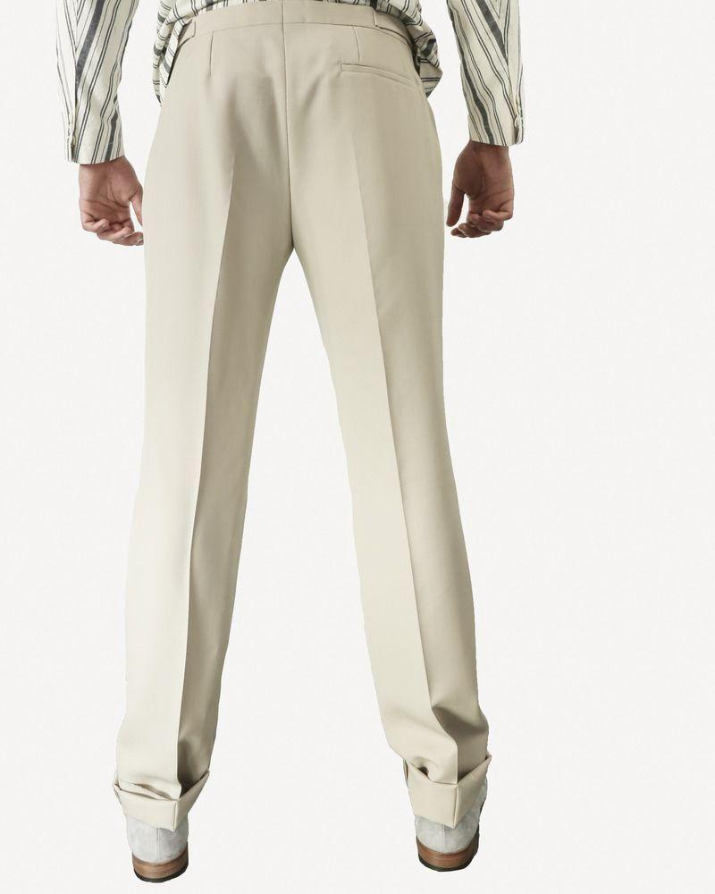 Pantalon de smoking en coton beige Edition M.R