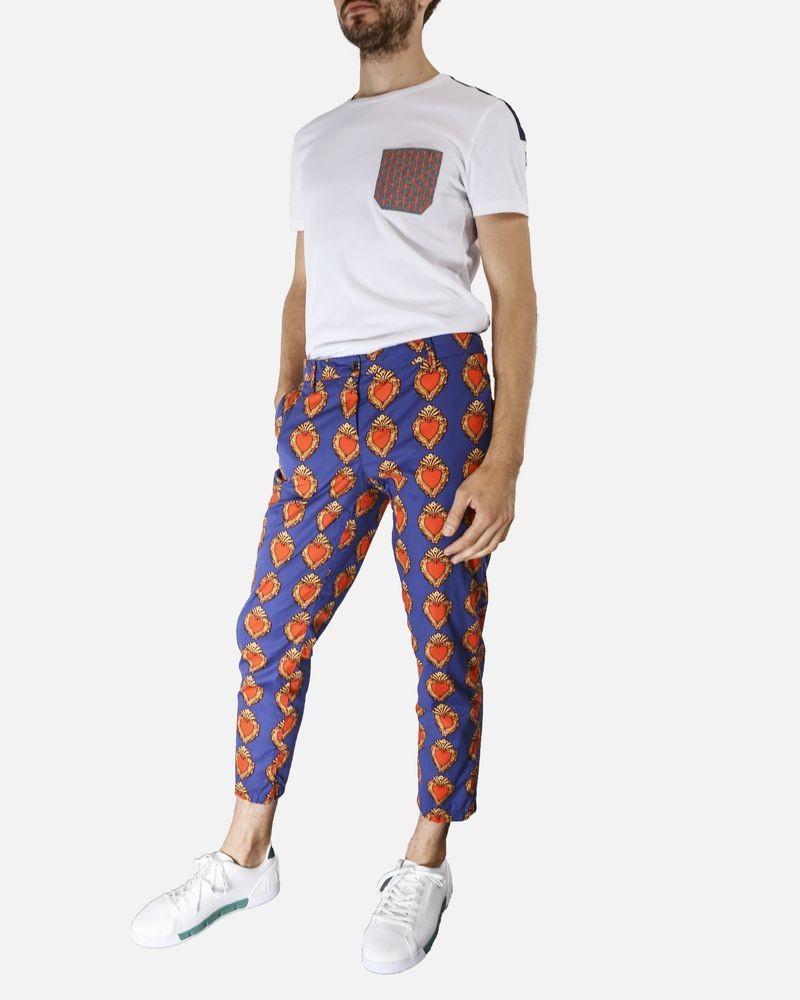 Pantalon à motifs bleu White Sand
