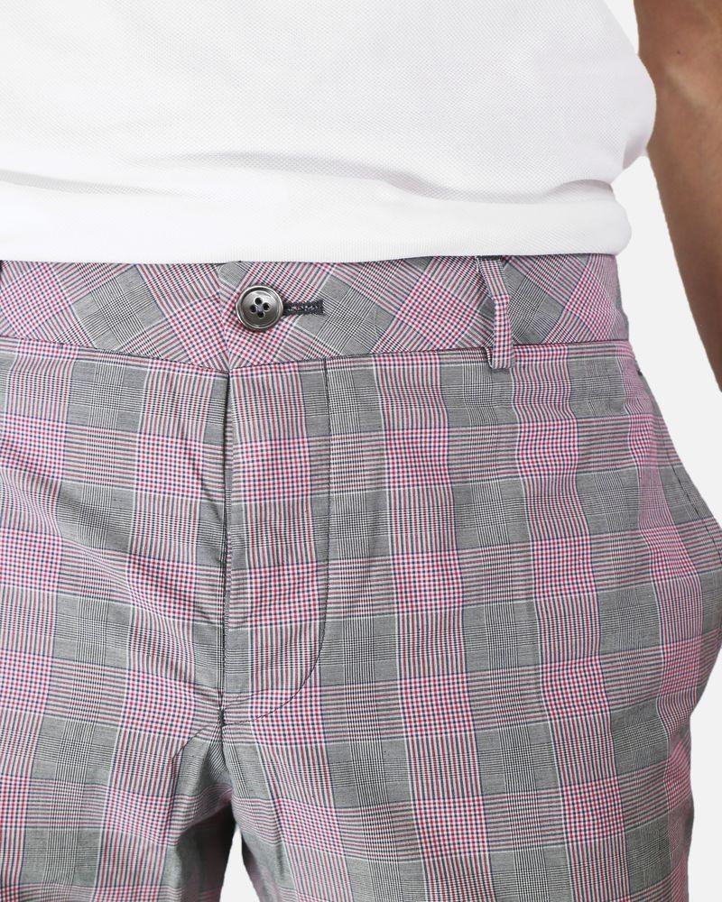 Pantalon Carreaux Rouge Marchand Drapier