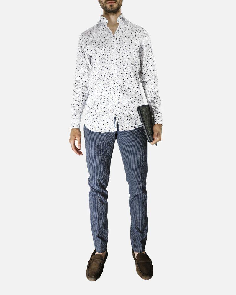 Pantalon régular gris effet froissé Marchand Drapier