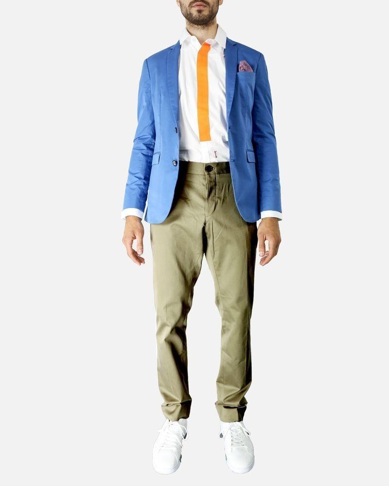 Pantalon chino kaki Marchand Drapier