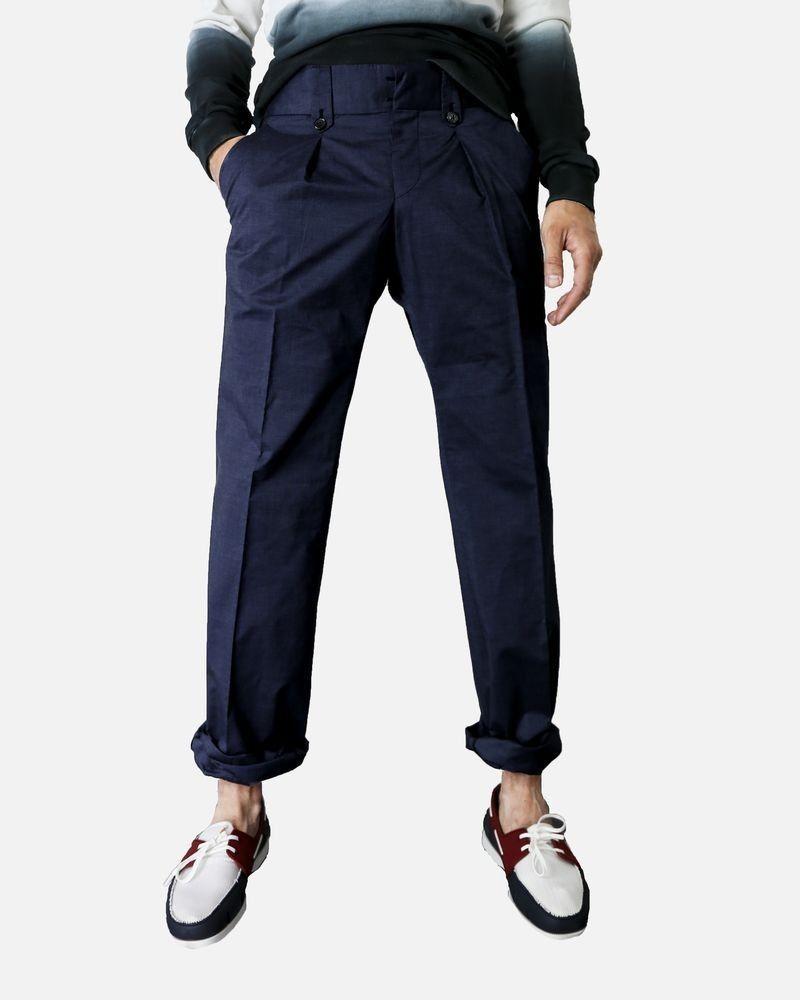 Pantalon chino bleu Marchand Drapier