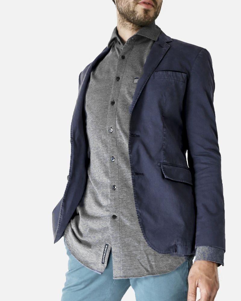Veste en toile de coton bleu Marchand Drapier