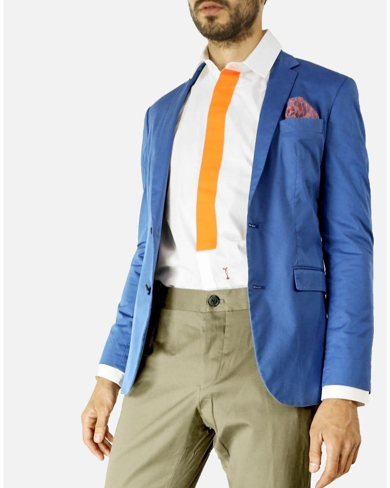Veste en coton bleu Marchand Drapier