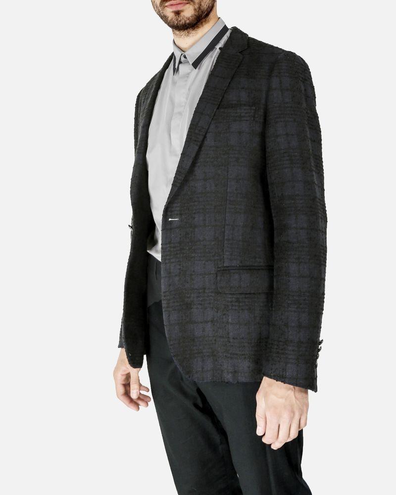 Veste en coton effet tweed bleu Lords & Fools