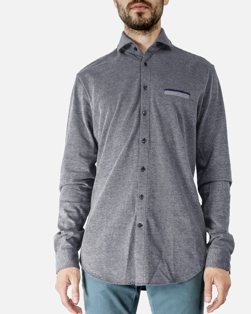 Chemise Grise Blue Industry