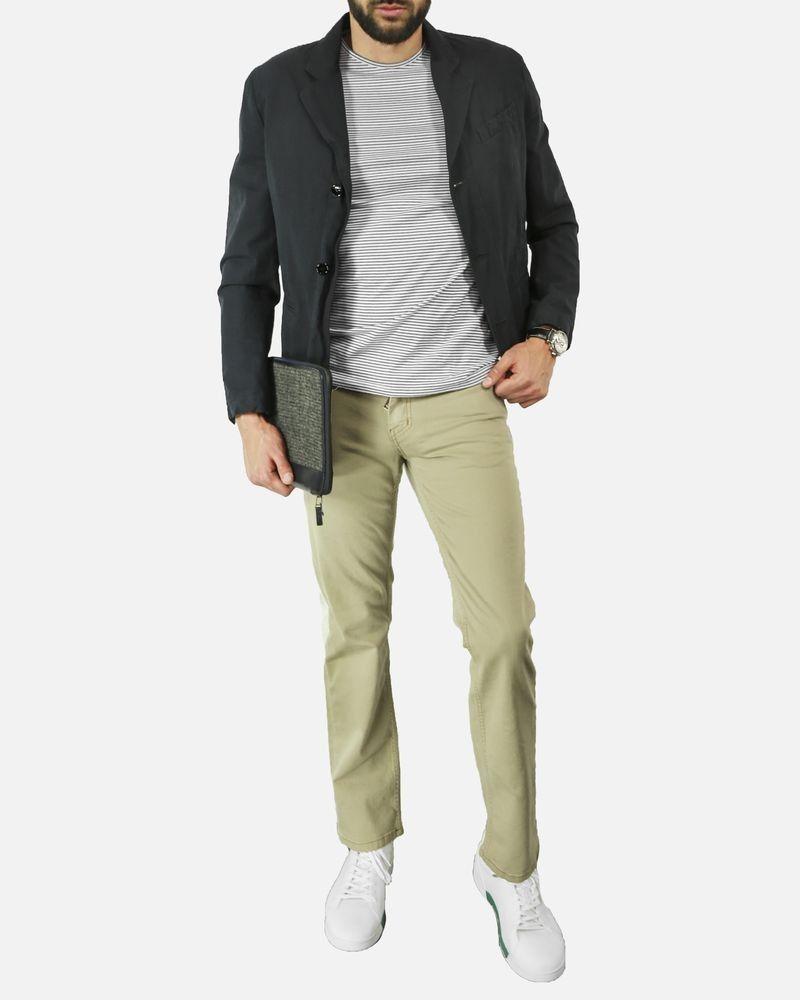 Pantalon 5 poches beige Frankie Morello