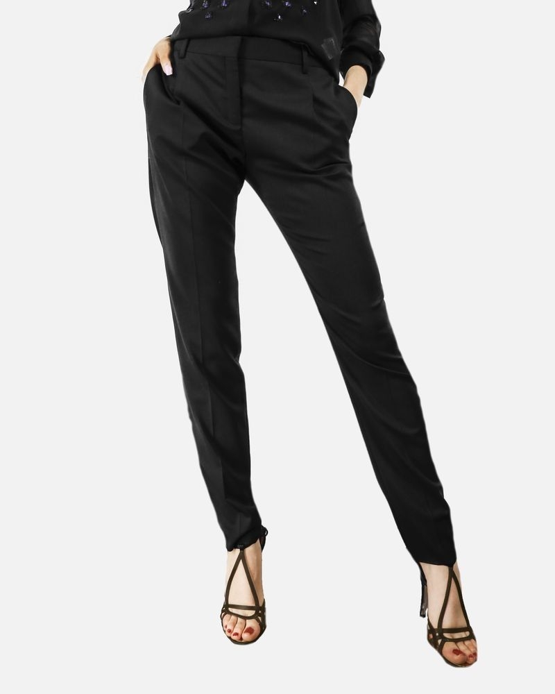 Pantalon de smoking noir à pinces Valentino