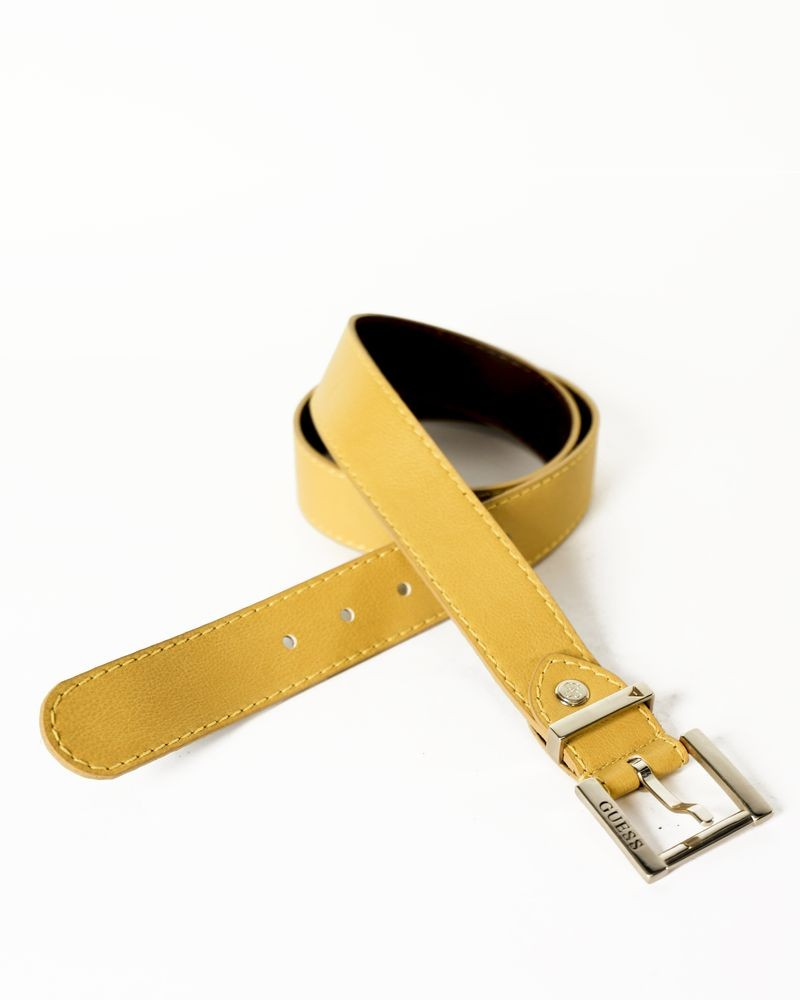 Ceinture en simili jaune moutarde Guess