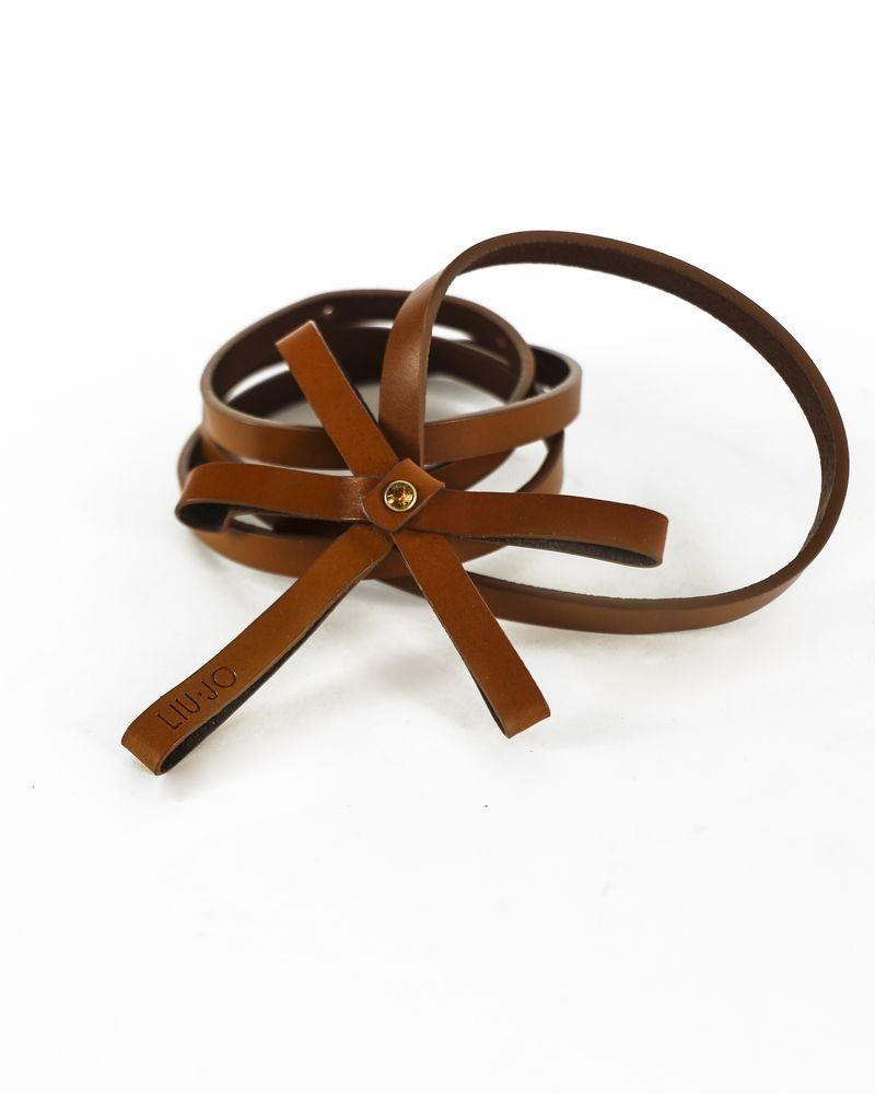 Ceinture fine en simili marron à nœud Liu Jo