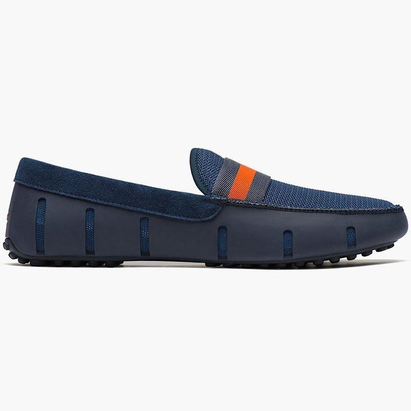 Chaussures mocassins bleue et orange Swims