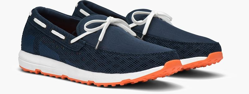 Chaussures bateaux bleues style baskets Swims