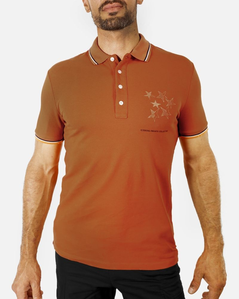 Polo orange Iceberg