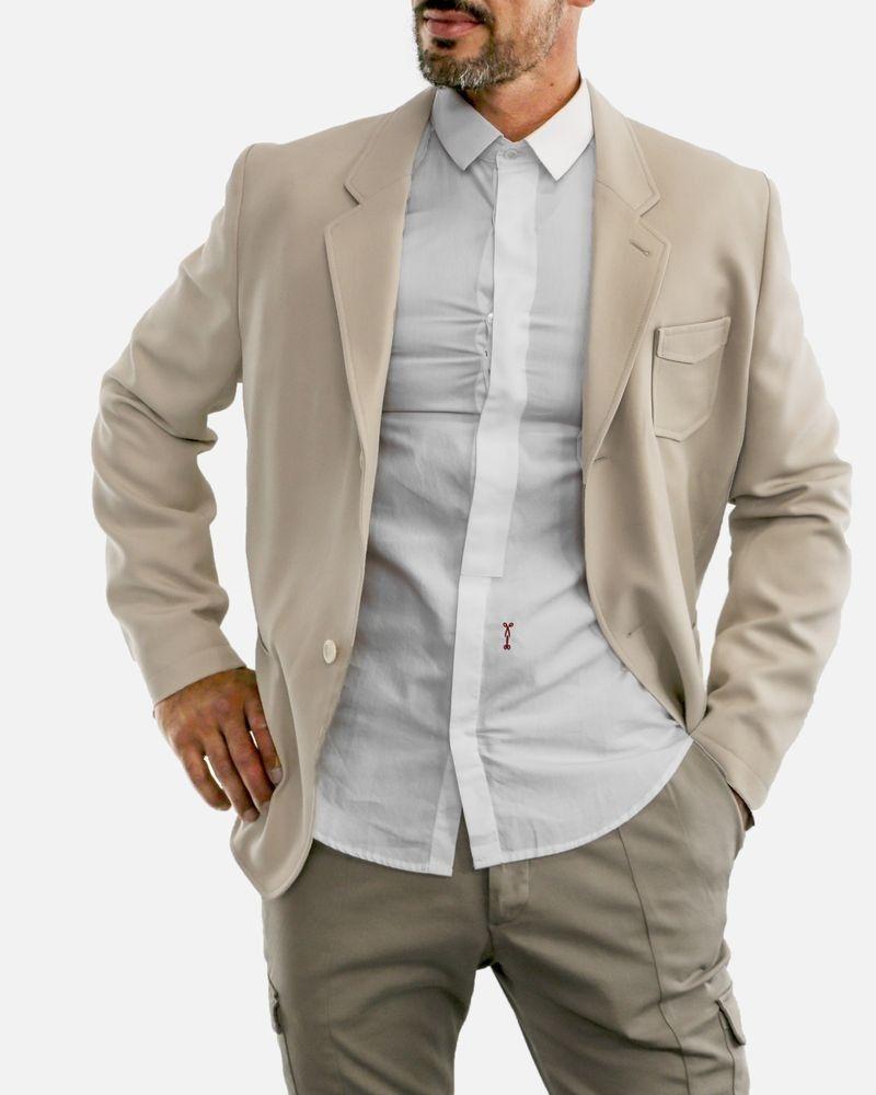 Veste beige style saharienne Edition M.R