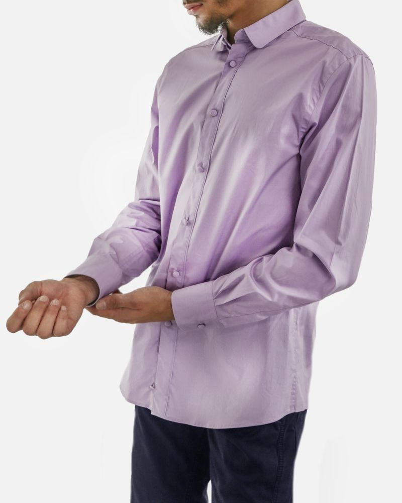 Chemise violette haute couture Versace