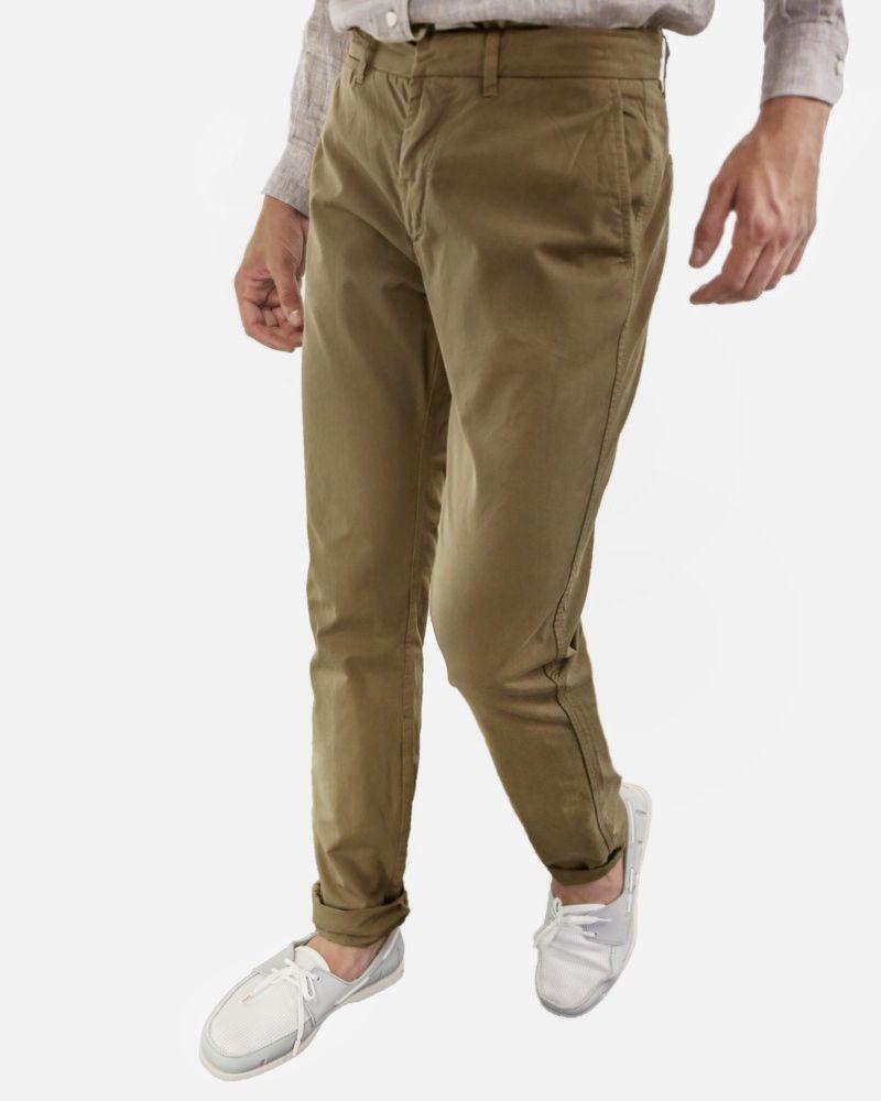 Pantalon chino en coton camel Cacharel