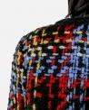 Veste en tweed noir et tricolore Edward Achour