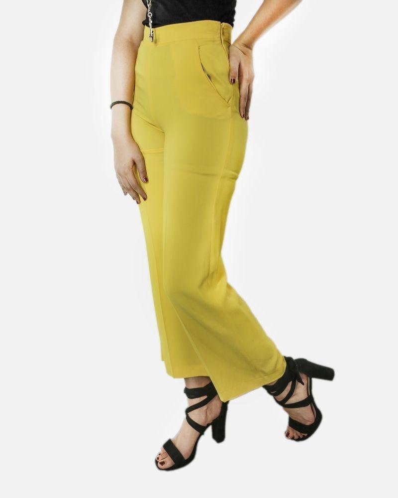 Pantalon pallazo en crêpe jaune Missoni