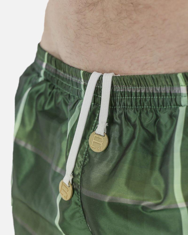 Maillot de bain vert à carreaux Robinson Les Bains