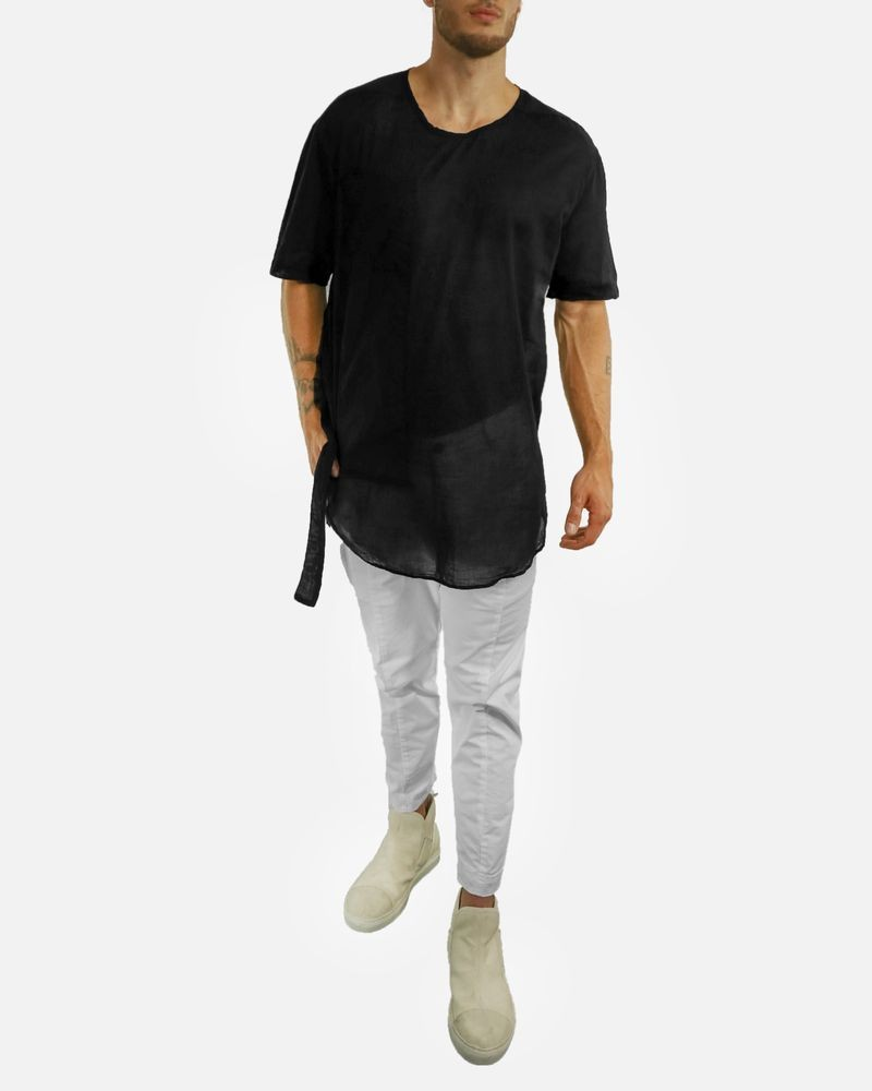 T-shirt blanc ample effet poche longue Lost & Found