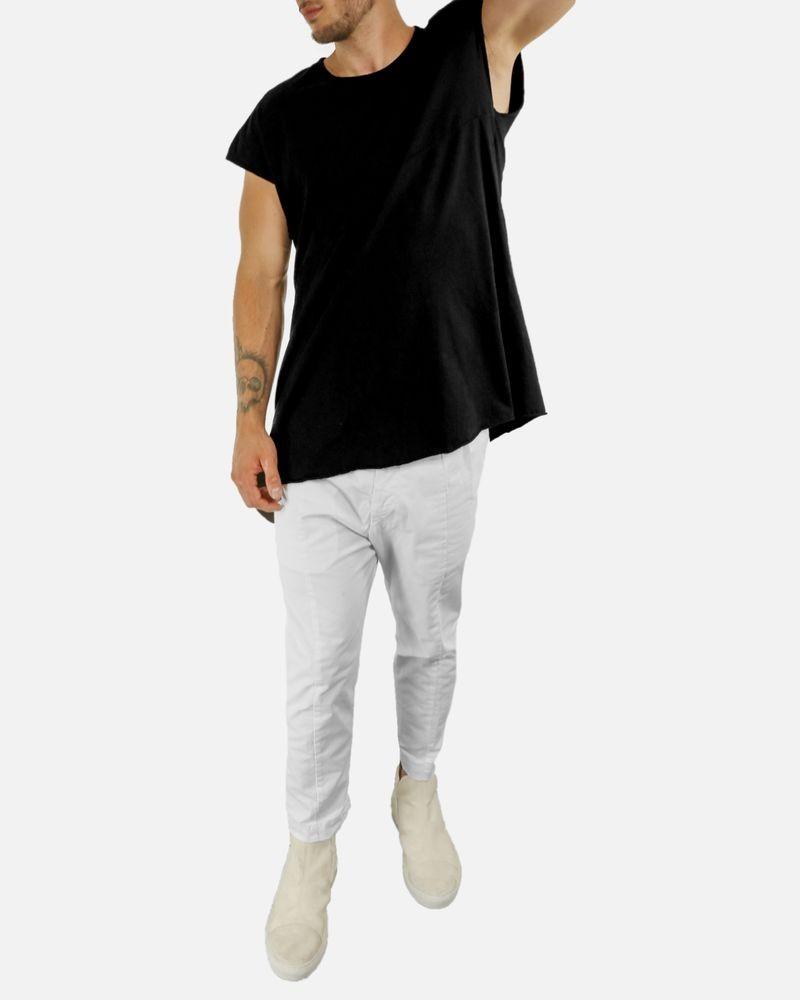 T-shirt noir asymétrique Lost & Found
