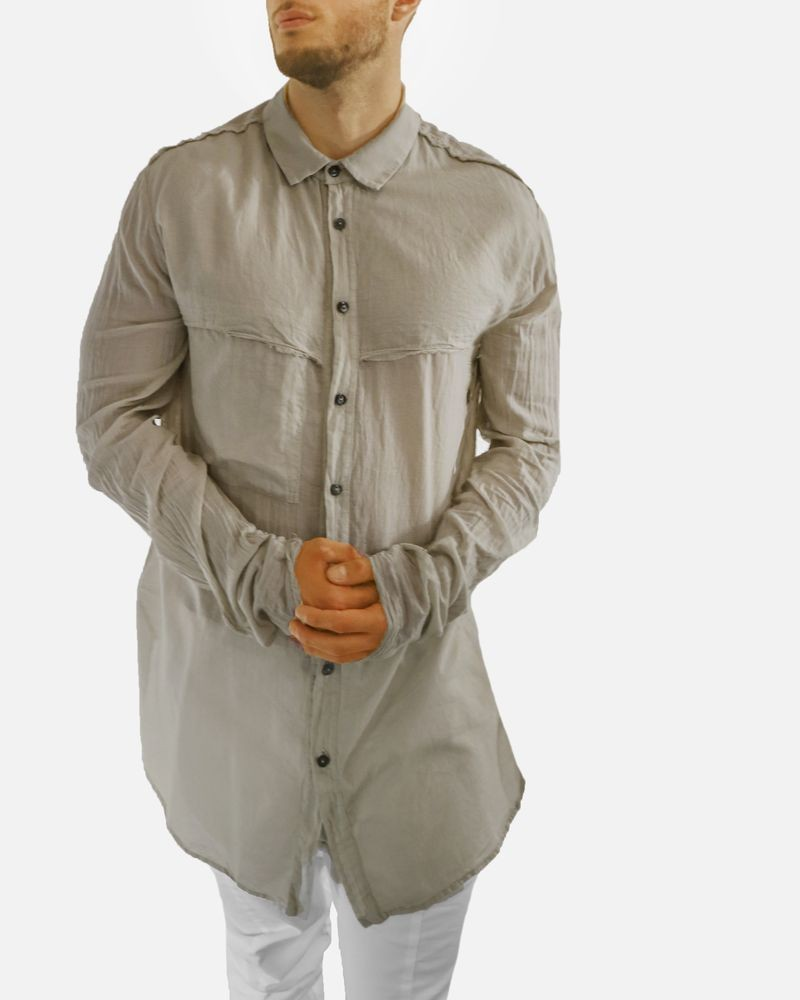 Chemise taupe ample Lost & Found