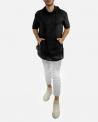 T-Shirt à capuche noir Lost & Found