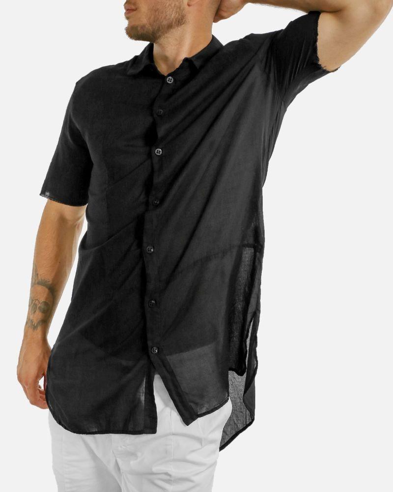 Chemise manches courtes noir Lost & Found