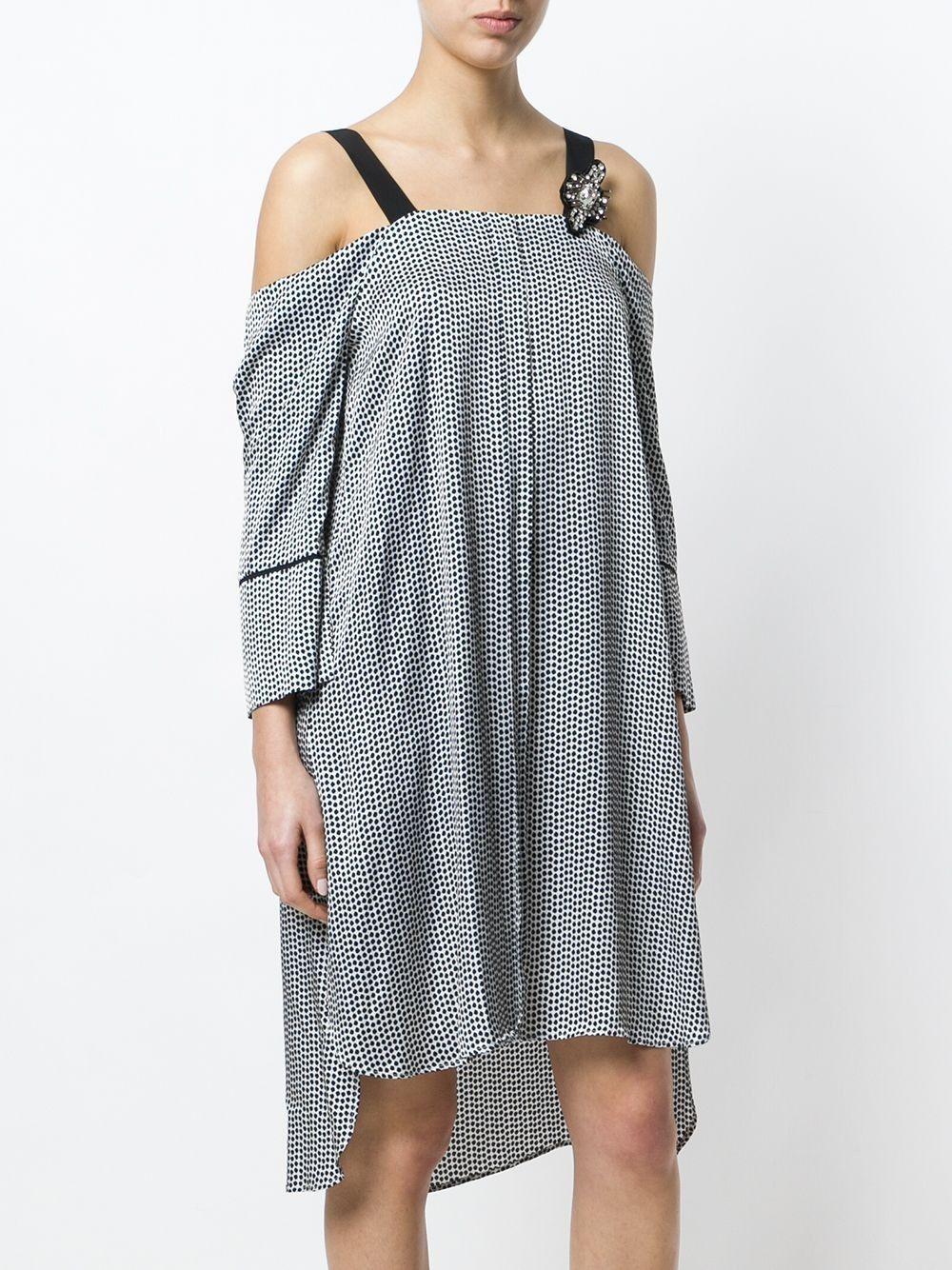 Robe blanche a pois noir Isabelle Blanche
