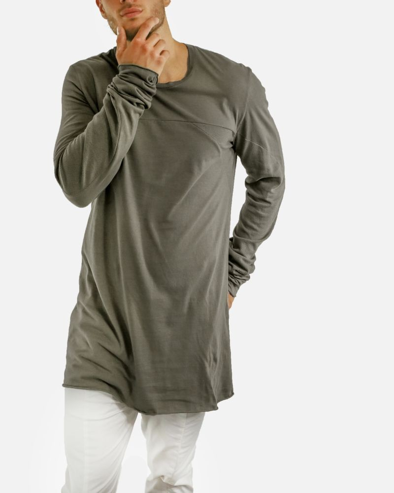 T-shirt style oversize taupe