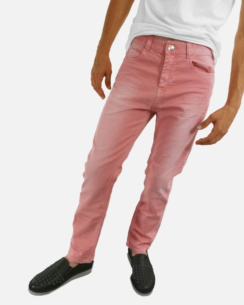 Pantalon 5 poches rose Frankie Morello