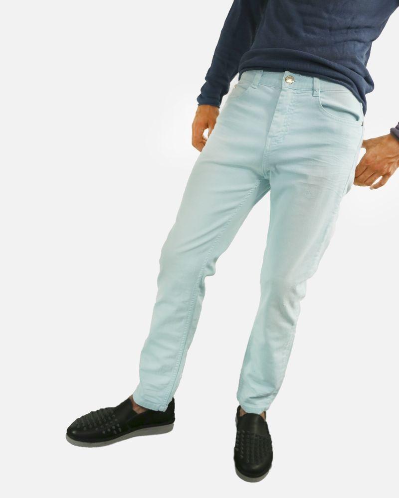 Pantalon 5 poches bleu ciel Frankie Morello