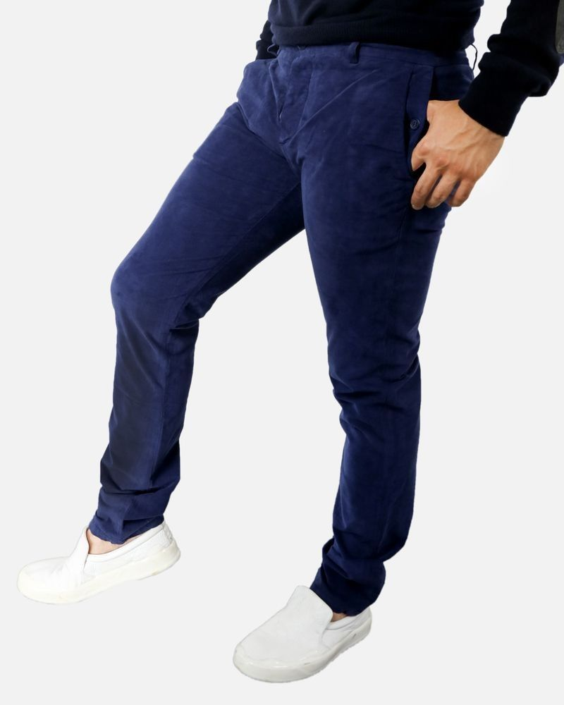 Pantalon bleu marine Marchand Drapier