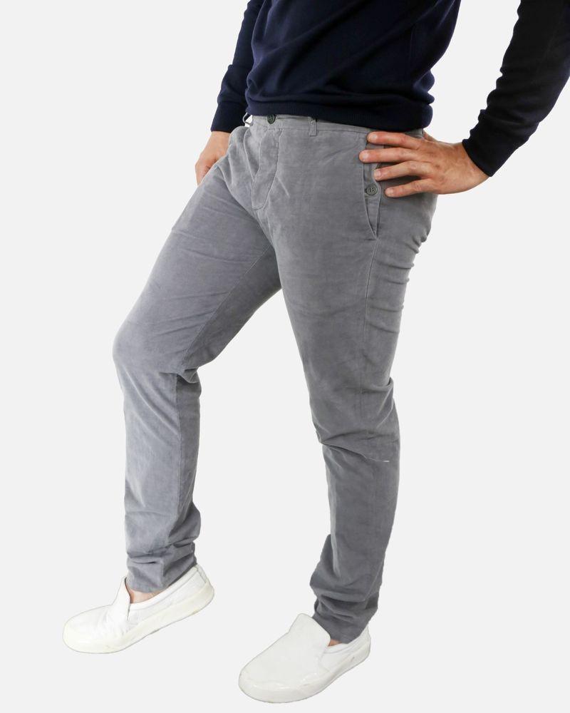 Pantalon gris clair Marchand Drapier