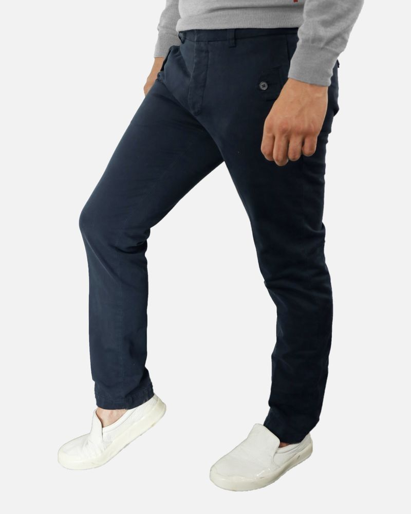 Pantalon bleu foncé Marchand Drapier