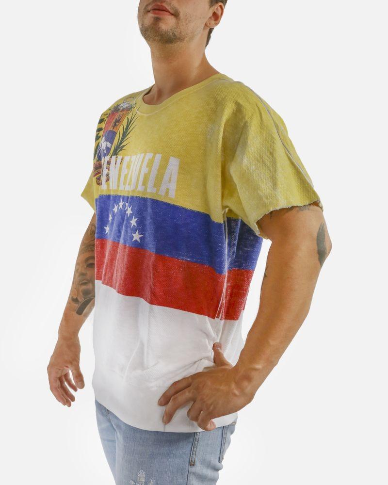 Sweat jaune à drapeau vénézuélien Dolce & Gabbana