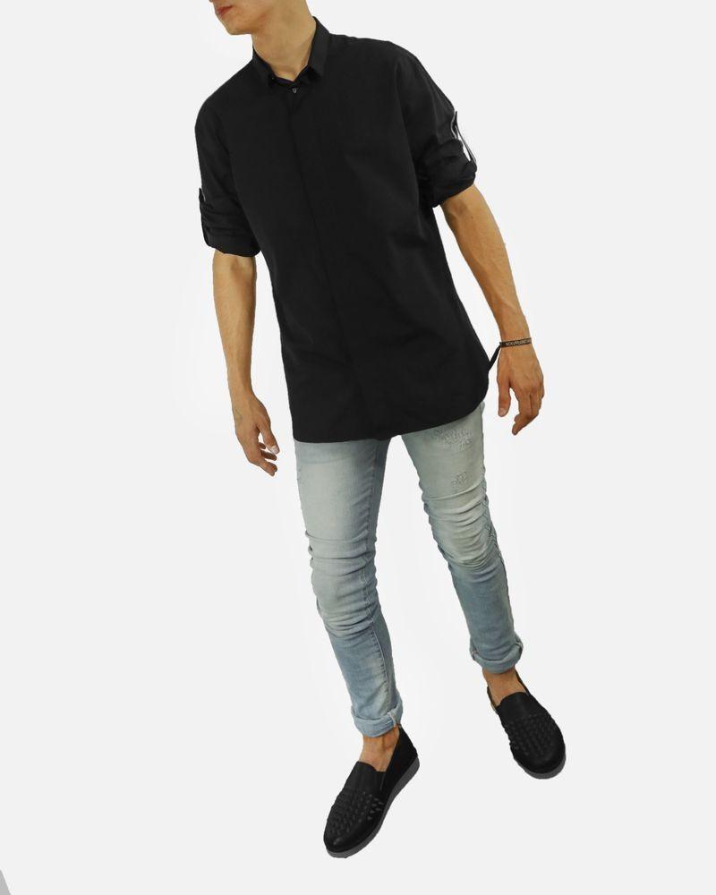 Chemise noire à manches retroussables Dior
