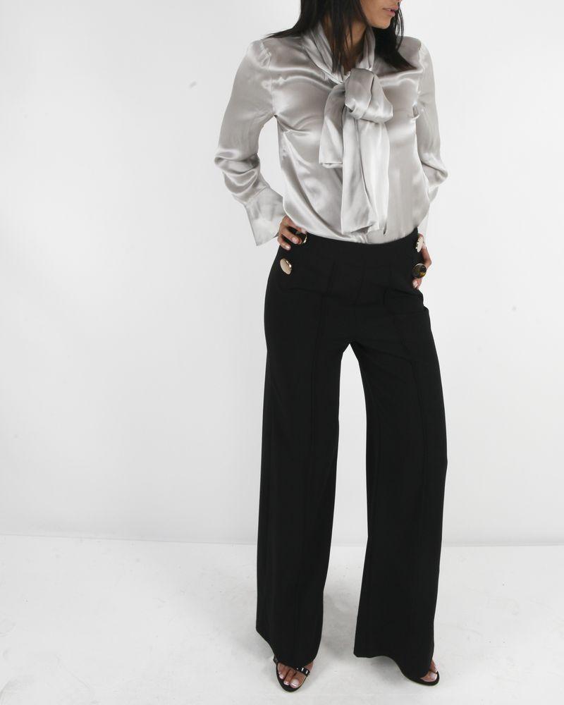 Pantalon ample noir Edward Achour
