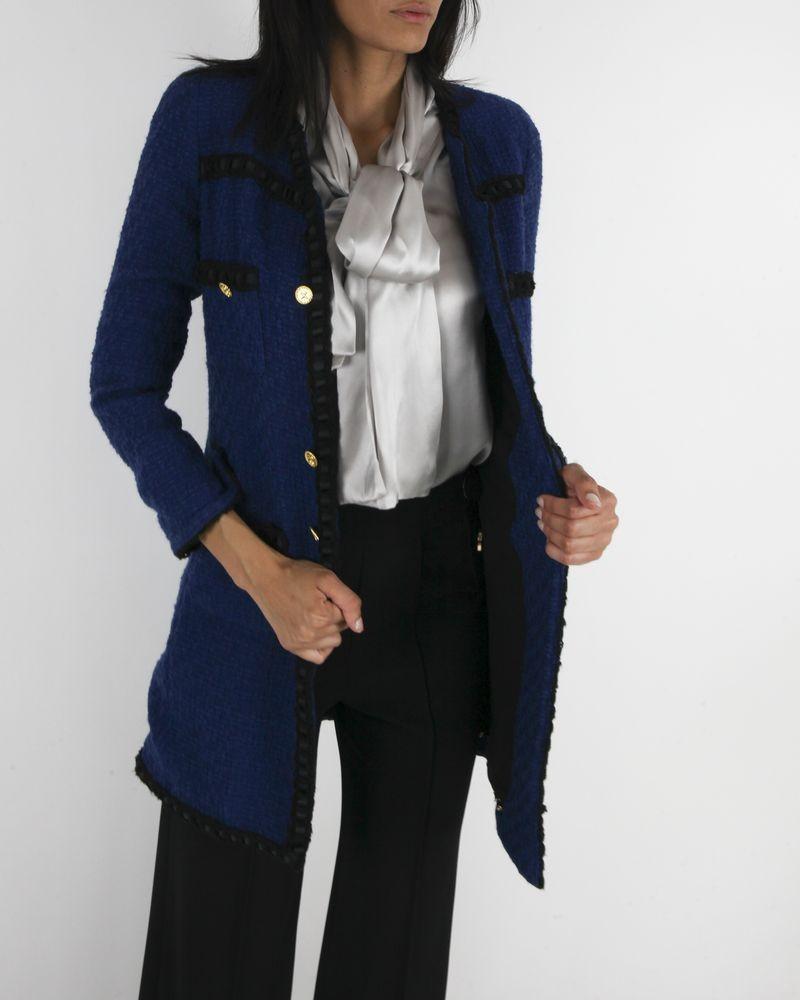Manteau bleu Edward Achour