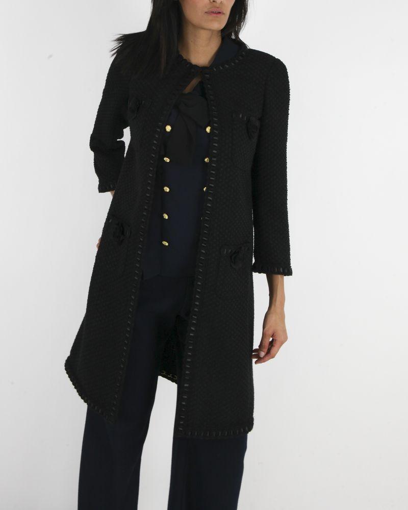 Manteau noir Edward Achour