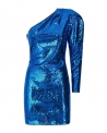 Robe à sequins bleu Space Simona Corsellini