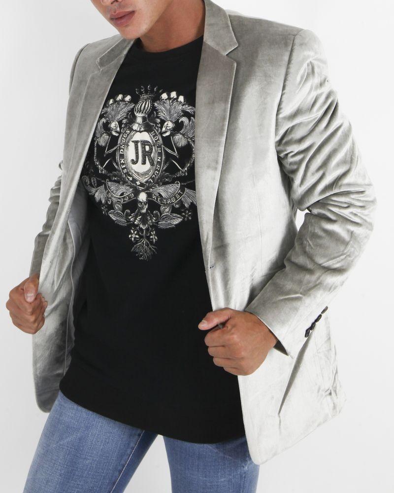 Veste de costume argenté Marchand Drapier