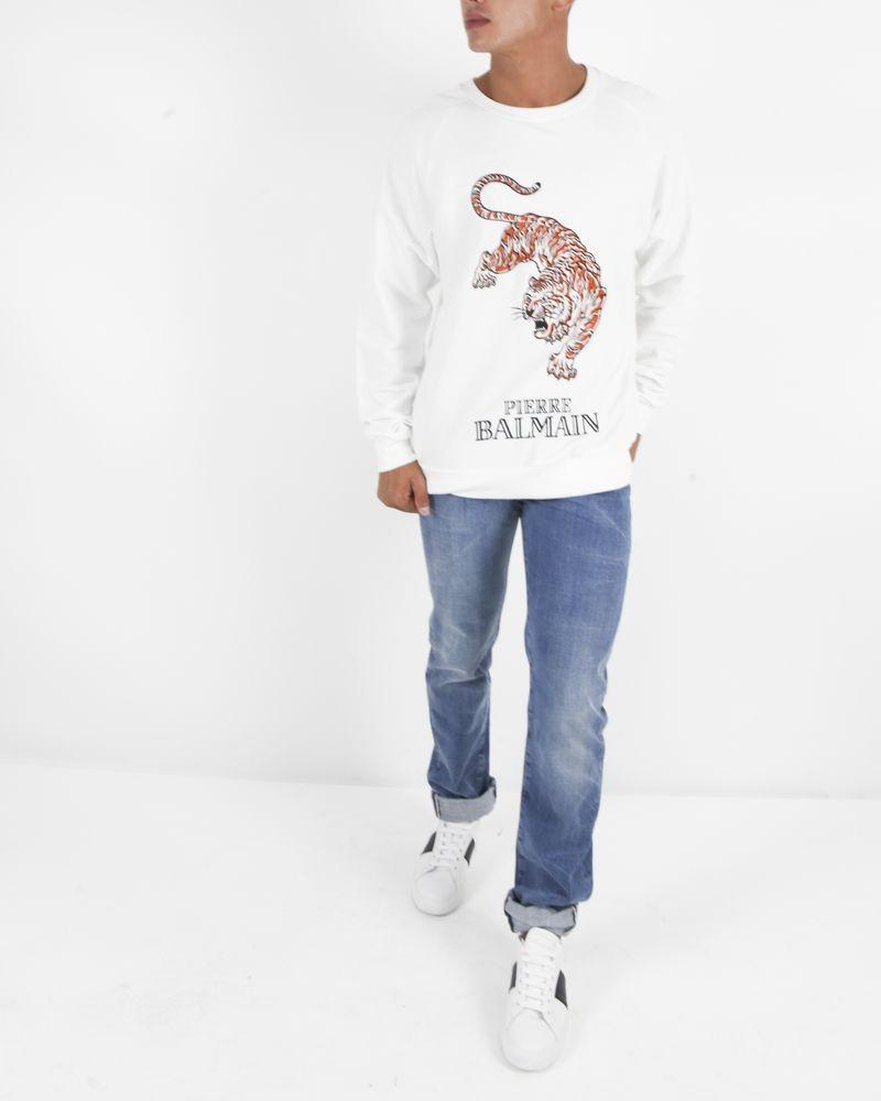 Pull tigre blanc Balmain