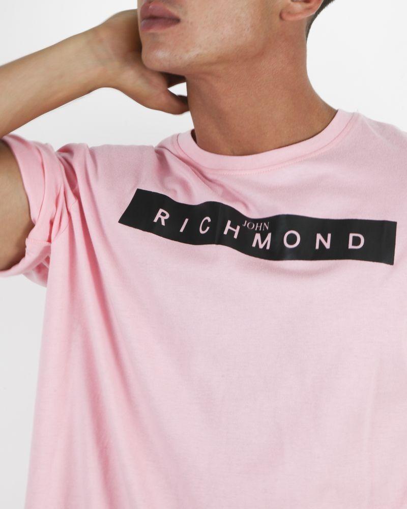 T-Shirt manches courtes rose John Richmond