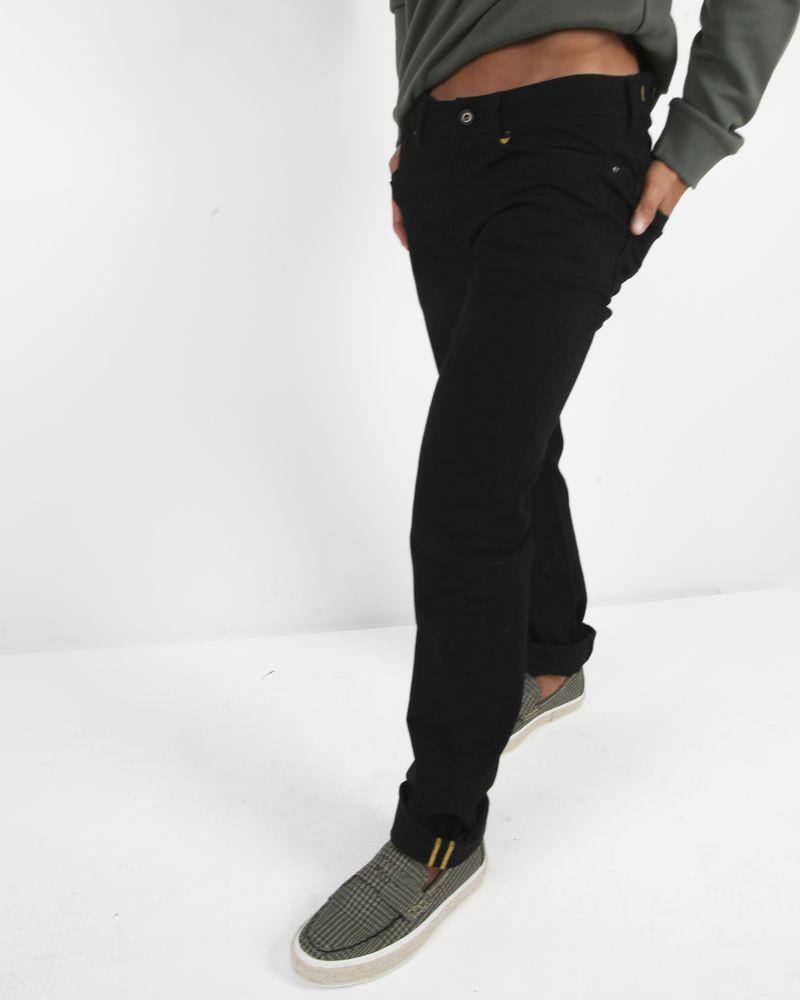 Jeans 5 poches noir Manostorti